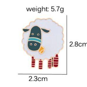 5/$24 Fluffy Lamb Pin Brooch